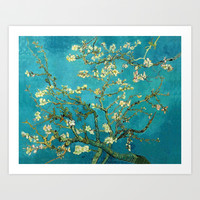 Vincent Van Gogh Blossoming Almond Tree Art Print by Art Gallery