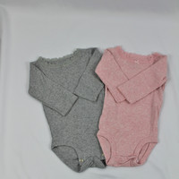Carter's Lace Neck Long Sleeve Onesuits , size 3 mo