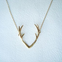 Antler Necklace - Fashion Necklace - Silver Antler Necklace - Design Necklace - Dainty Silver Necklace -Thin Necklace - Valentine's Day Gift
