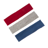 Red, Blue and Gray Jersey Headwraps Set of 3
