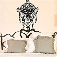 Wall Decal Vinyl Sticker Decals Art Decor Design Dreamcather Dream Cather Owl Eagle Night Symbol Feathers Flowers Bedroom Dorm Fashion(r615)