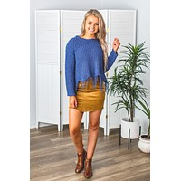 Frayed Corduroy Skirt-2 Options