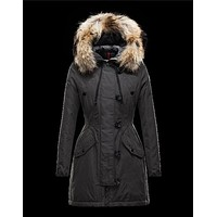 Moncler ARRIOUS Turtleneck Steel grey Parka Polyester/Cotton/Racoon Womens 41463417ME