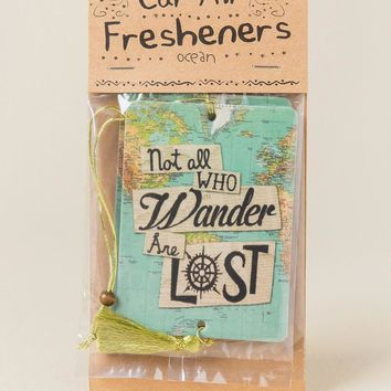 Not All Who Wander Are Lost Air Freshener