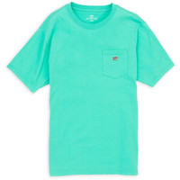 Southern Tide Outlined Embroidered Pocket Tee- Tropical Palm