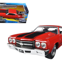 """Dom's Chevrolet Chevelle SS Red """"Fast & Furious"""" Movie 1-24 Diecast Model Car by Jada"""