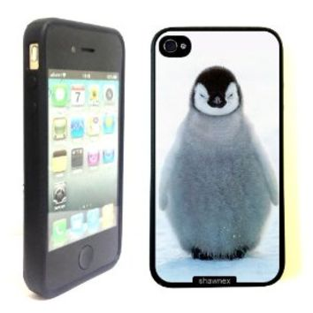 iPhone 4 4S Case ThinShell TPU Case Protective iPhone 4 4S Case Shawnex Cute Baby Penguin