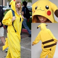 Hot Unisex Adult/ Children Kigurumi Pajamas Anime Cosplay Costume Onesuit pikachu TQ = 1830115204