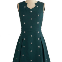ModCloth Mid-length Sleeveless A-line Clustered Luster Dress