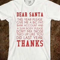 Supermarket: FAT BANK ACCOUNT AND SLIM BODY CHRISTMAS from Glamfoxx Shirts