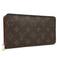 Louis Vuitton Monogram Porte Monnaie Zip Long Wallet M61727 Authentic #2831