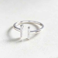 Adina Reyter Pave Diamond Double Bar Ring- Silver