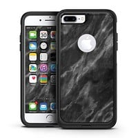 Black and Chalky White Marble - iPhone 7 or 7 Plus Commuter Case Skin Kit