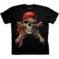 SKULL AND MUSKETS The Mountain Skeleton Crossbones Gun Bone Pirate T-Shirt S-3XL
