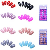 100pc Stiletto Fake Nails Designs Faux Ongles Full Cover False Nails Artificial Tips 8 Different Colors Optional Nails Salon
