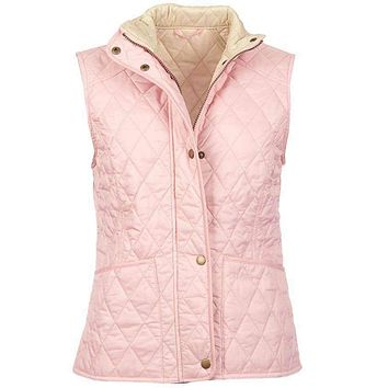 Summer Liddesdale Quilted Gilet in Carnation Pink by Barbour
