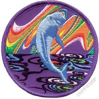 Psychedelic Jumping Dolphin Patch