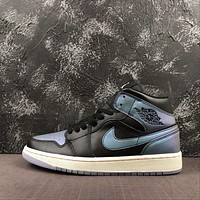 Air Jordan 1 Mid Metallic-Styled Sneaker