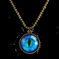 Cerulean Dragon's Eye Pendant - LB357 by Medieval Collectibles