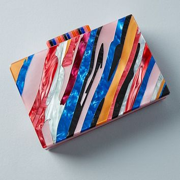 Sunset Lucite Clutch