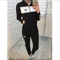 Adidas fall new sports and leisure suits Black