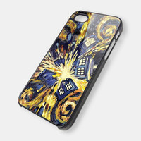 Tardis Doctor Who starry night art painting iPhone 5 case - iphone 4 / 4s case FDL77