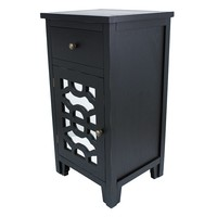 Decor Therapy Geometric End Table (Black)