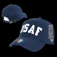 Vintage Cotton Twill US Air Force Baseball Cap Ball Hat- Armed Forces