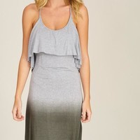Ombré Knit Dress - Charcoal