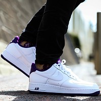 """Nike Air Force 1 Low """"Voltage Purple"""" low-top all-match casual casual  sports  sneakers shoes"""