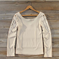 Fireside Lace Tee in Toasted Marshmallow
