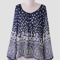 Fields Of Wonder Floral Blouse