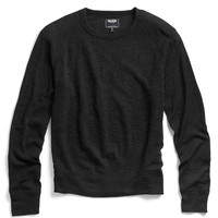Wool Crewneck Raglan in Black