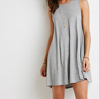 Heathered Trapeze Dress