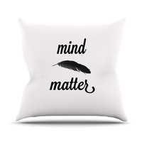 "Skye Zambrana ""Mind Over Matter II"" Black White Outdoor Throw Pillow"
