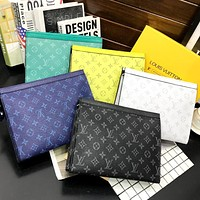 Hipgirls Louis Vuitton LV hot sale printed letters men and women makeup bag briefcase