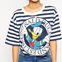 ASOS T-Shirt with Donald Duck Stripe Print
