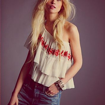 Free People Womens Distant Love Mesh Top -