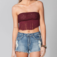 Full Tilt Fringe Bandeau Burgundy  In Sizes