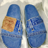 SWEET LORD O'MIGHTY! OG DENIM SLIDES IN DARK WASH