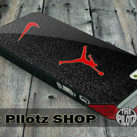 Nike Logo with Air Jordan - iPhone 5/5s, 4/4s, 5c and Samsung Galaxy s2, s3, s4 Case