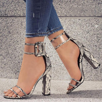 Newest Sexy Transparent Strap Buckle High Heels