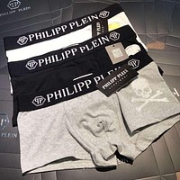 Philipp Plein Men Briefs Shorts Underpants Male Cotton Underwear