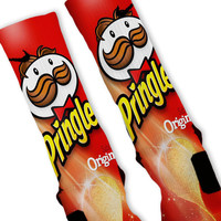 Pringles Red Custom Nike Elite Socks