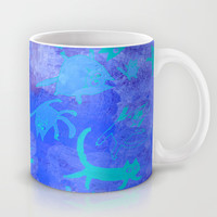 blue cats in space Mug by Marianna Tankelevich
