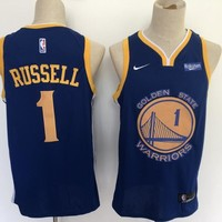Golden State Warriors 1 D'Angelo Russell Blue Swingman Basketball Jersey