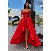 High Low Prom Dress, Special Occasion Dress, Evening Dress, Dance Dresses, Graduation School Party Gown, DT0701