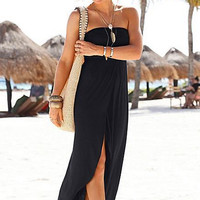 Black Off Shoulder Beach Dress