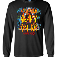Pour Some Gravy on Me!  Def Leppard Funny Rocker Thanksgiving Long Sleeved Tshirt