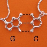 friendship necklace set  DNA and RNA base pairs by molecularmuse